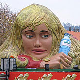 La Mujer Gigante en Parque Europa en Madrid