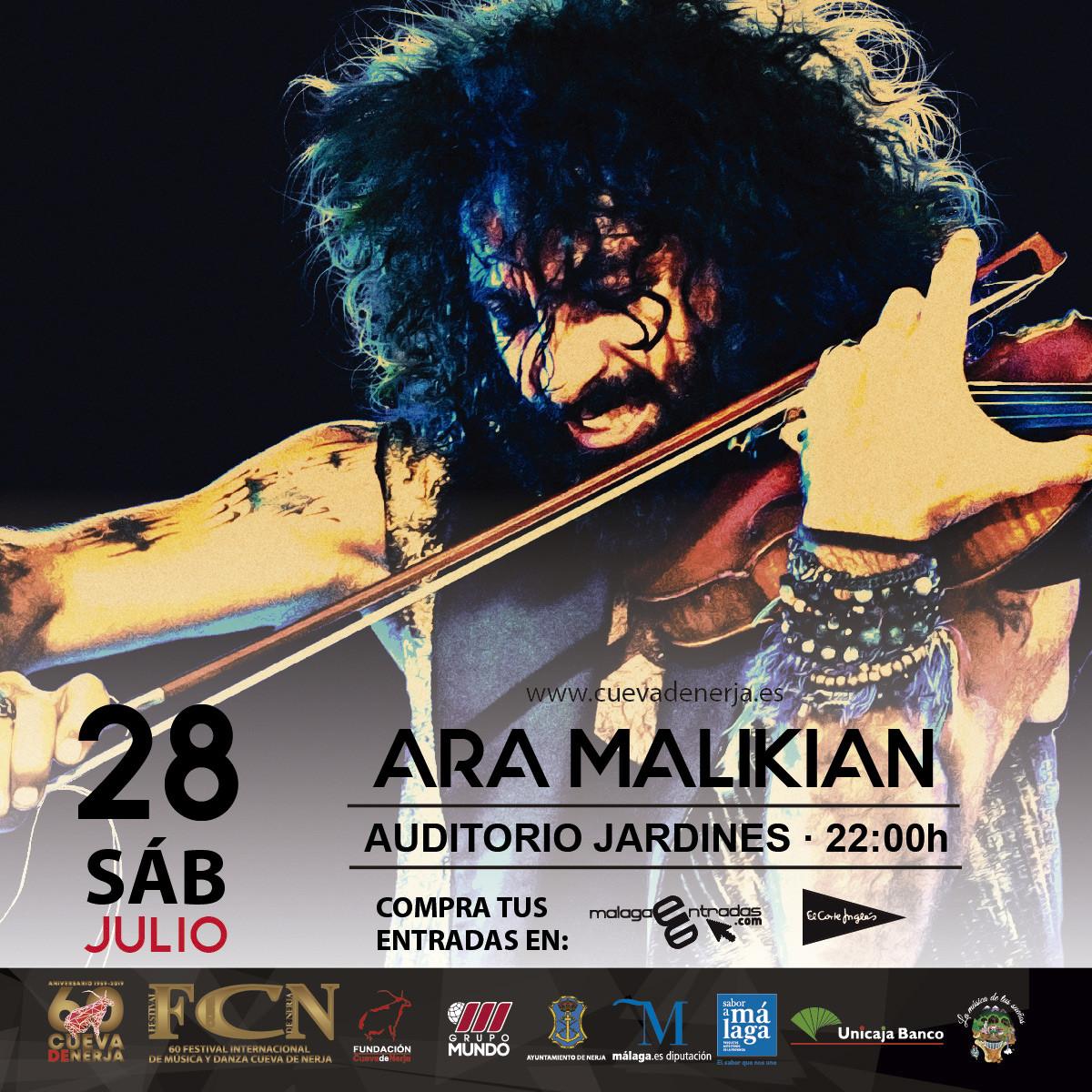 Ara Malikian presenta Royal Garage en la Cueva de Nerja en Málaga
