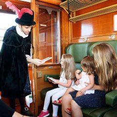 Tren de Felipe II en Paseo de la Florida en Madrid