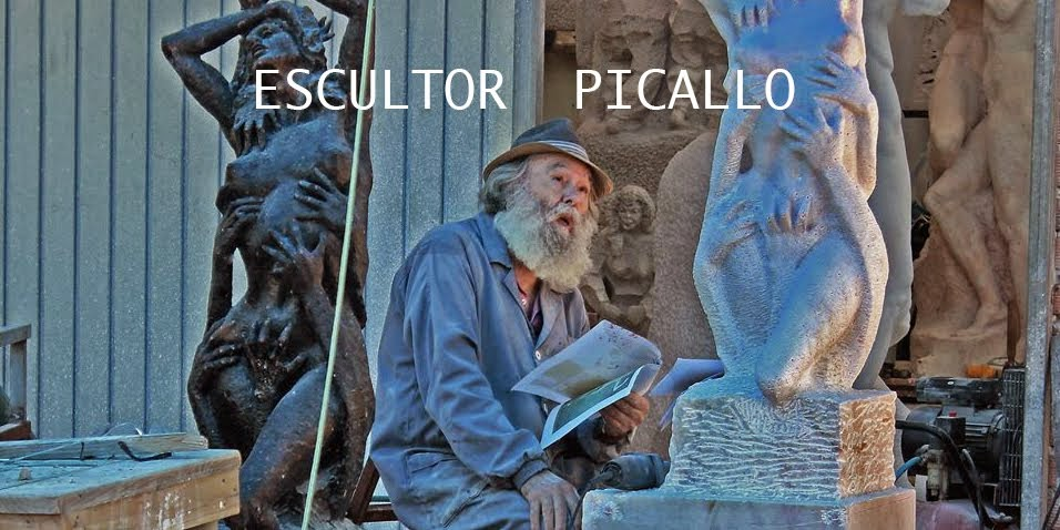Creando con Magín Picallo, taller de escultura en Goián