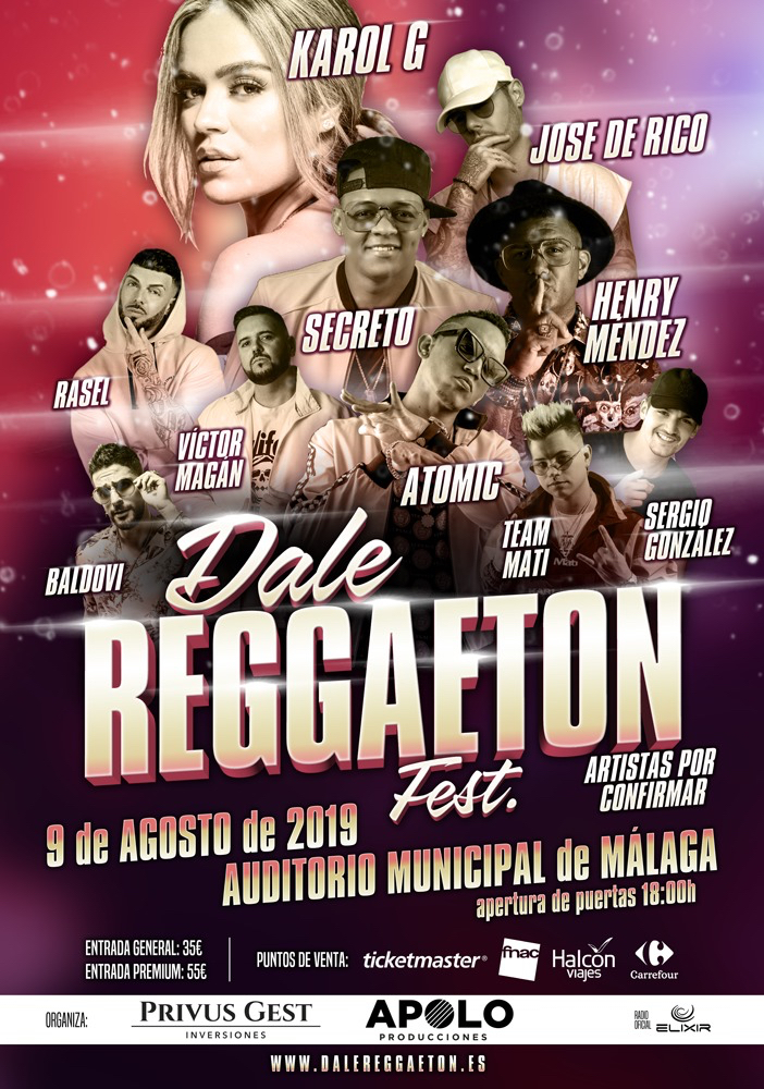 Dale Reggaeton Fest en el Auditorio Municipal de Málaga