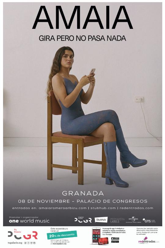 Pero No Pasa Nada de Amaia llega a Granada en noviembre
