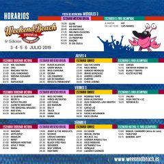 Weekend Beach Festival ya tiene sus horarios por días y escenarios