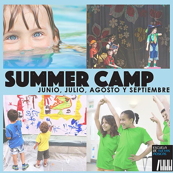 Campamento de verano de la Escuela de Nuevas Músicas en Hacienda de Pavones en Madrid