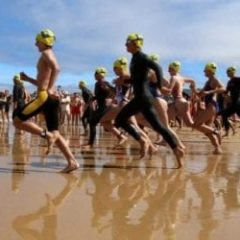 Costa Serena, travesía a nado en Nigrán