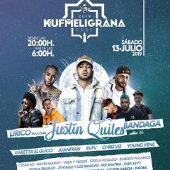 KUF Meligrana Fest 2019 con Justin Quiles, Bandaga, Juanfran (#mimorena) y más en concierto Motril (Granada), entradas con descuento
