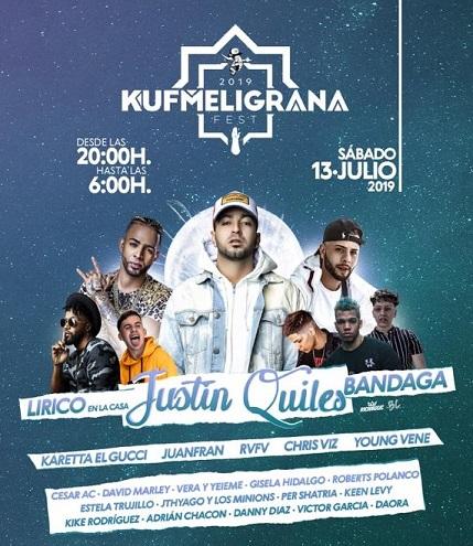 KUF MELIGRANA FEST 2019 con JUSTIN QUILES Motril (GRANADA) entradas