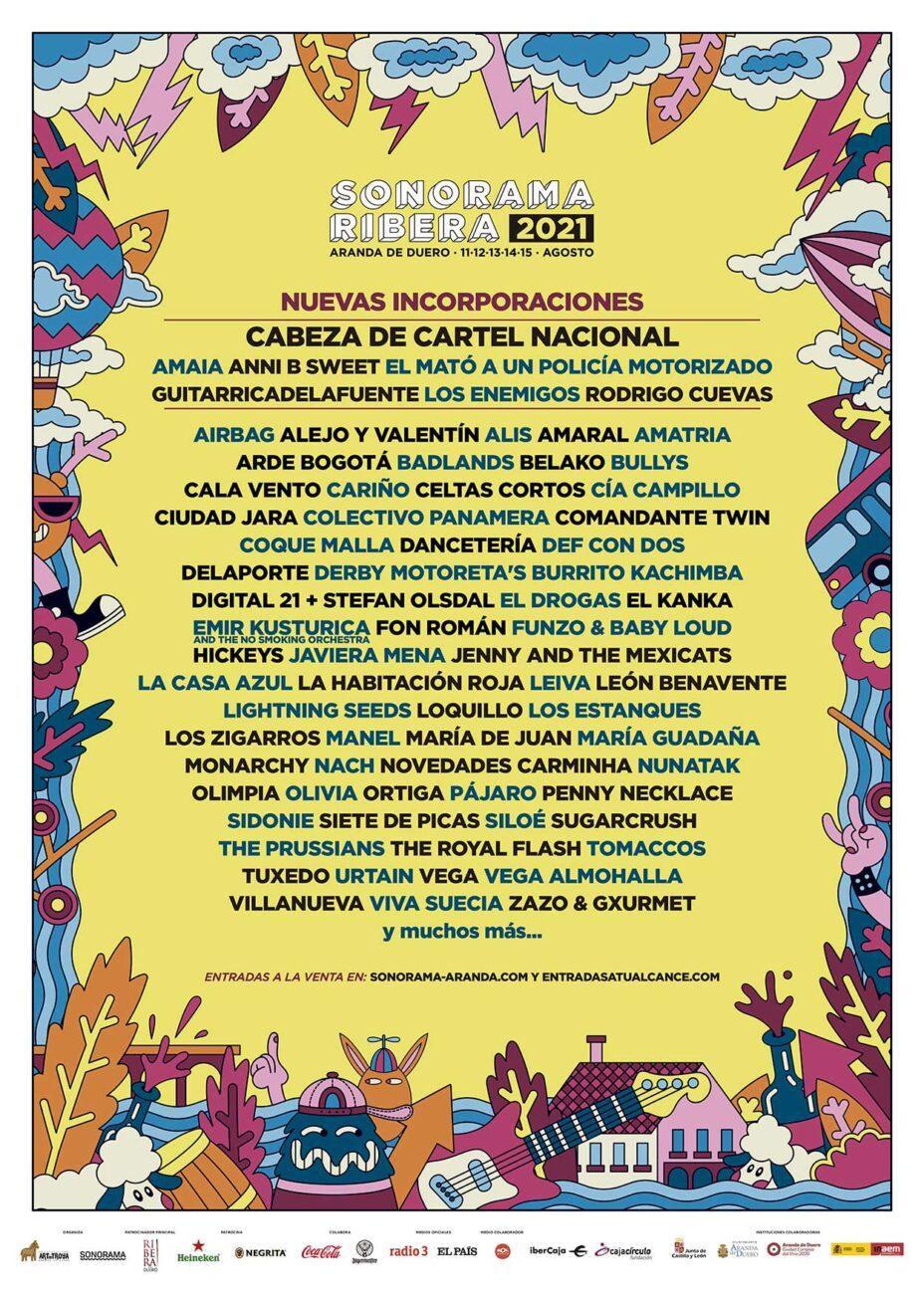 Cartel oficial del Sonorama Ribera 2021