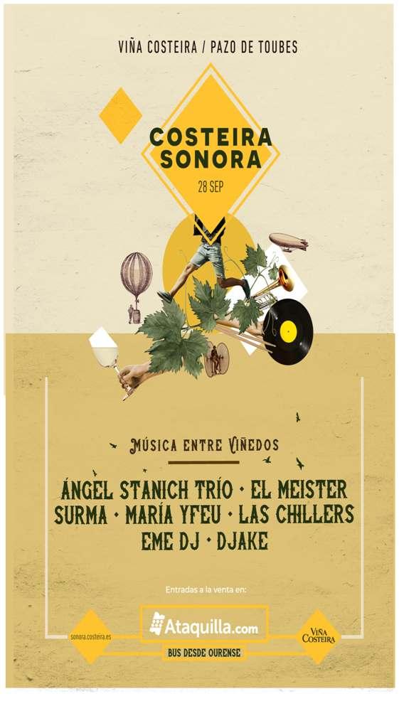 Costeira Sonora, festival de vino y música en Ourense