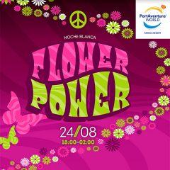 Noche Blanca Flower Power en Port Aventura en Tarragona