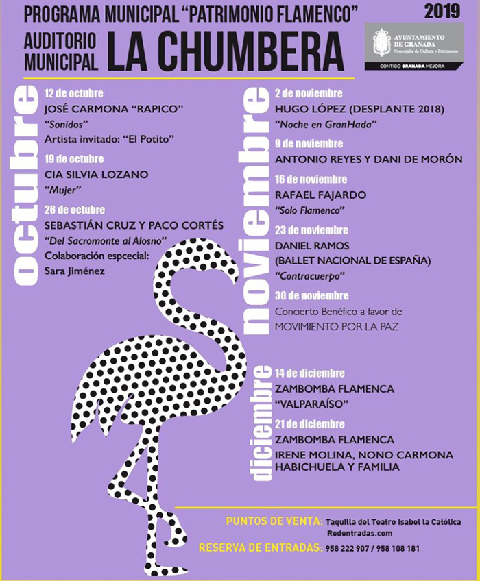 Programa completo Patrimonio Flamenco 2019 en La Chumbera