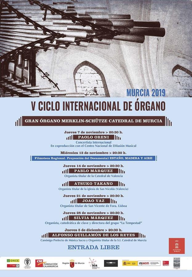 Ciclo internacional de Órgano en la Catedral de Murcia
