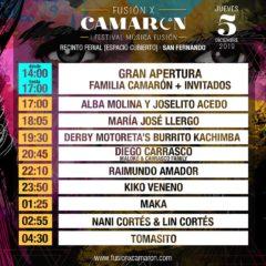 Fusión por Camarón: Horarios y artistas