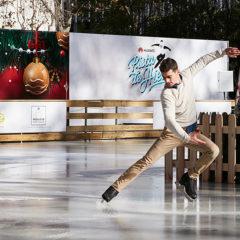 Pista de hielo Javier Fernández en Paseo de la Castellana en Madrid