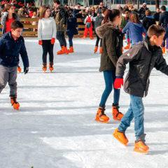 Pista de hielo Matadero Madrid en Paseo de la Chopera