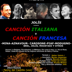 Jolís presenta «Canción Italiana y Canción Francesa» en el Isabel la Católica de Granada