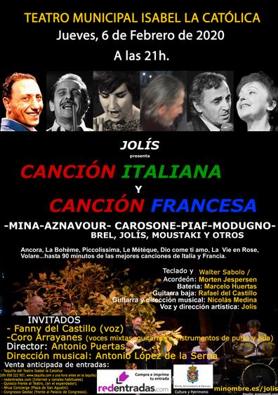 Jolís - Canción italiana y canción francesa