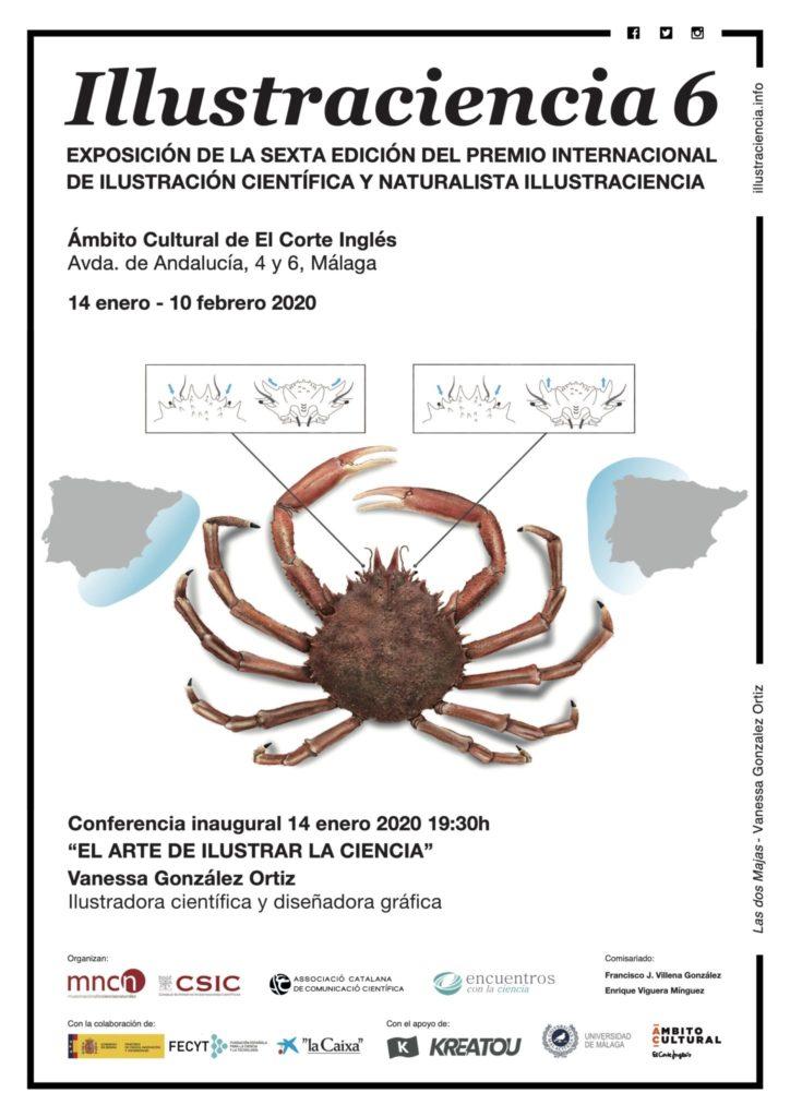 Exposición Illustraciencia 6 de Encuentros con la Ciencia en Málaga