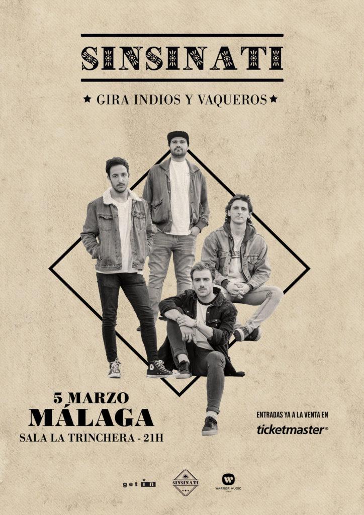 Sinsinati presenta Indios y Vaqueros en La Trinchera de Málaga