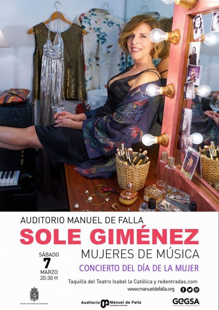 Sole Giménez presenta Mujeres de Música en el Auditorio Manuel de Falla de Granada