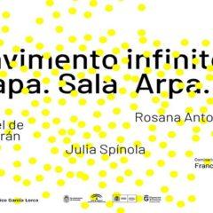 Pavimento infinito. Mapa. Sala. Arpa. Alba en Centro Federico García Lorca en Granada