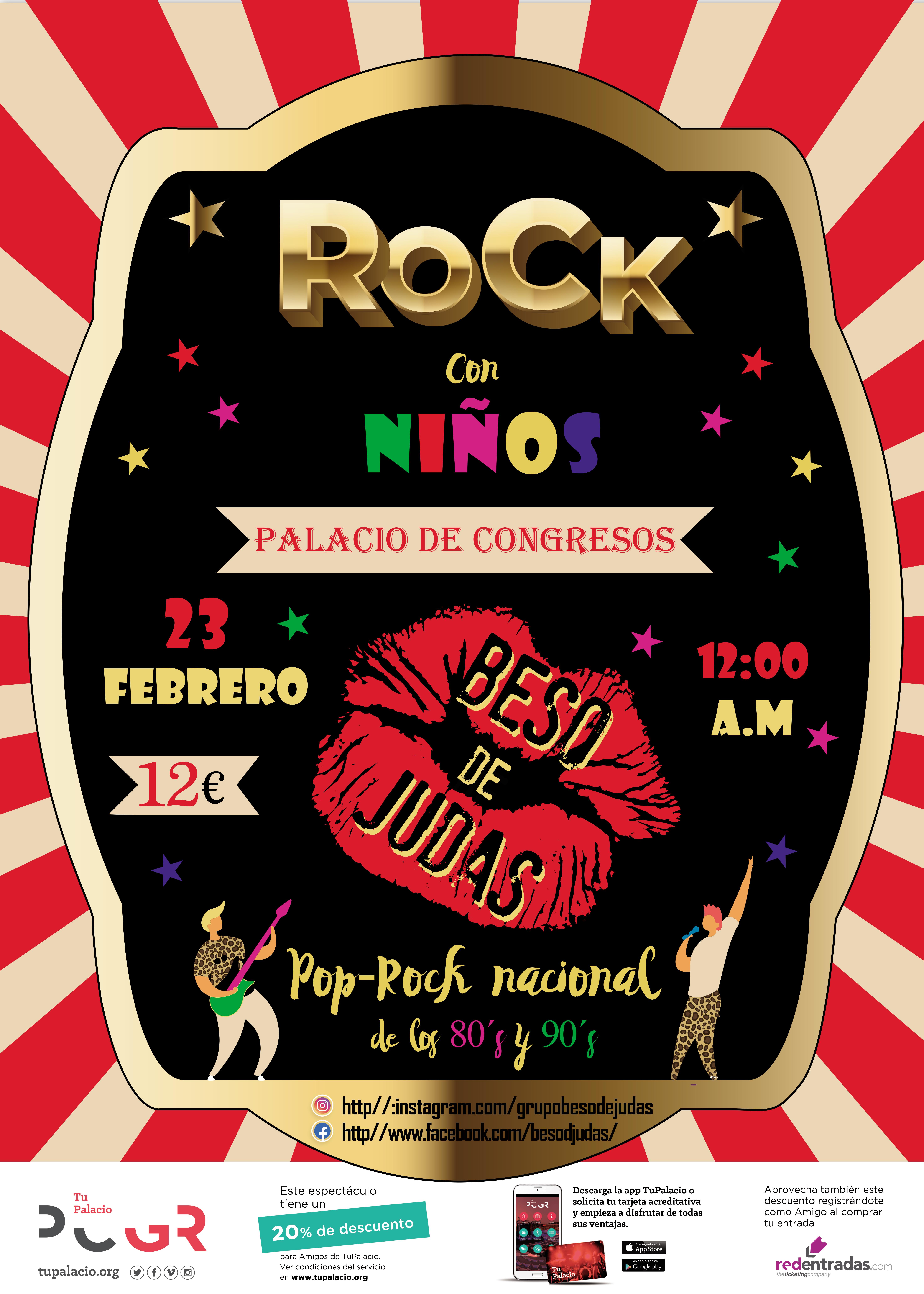 Rock con niños con Beso de Judas en el Palacio de Congresos de Granada