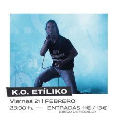 K.O. Etíliko en concierto en Sala Anden 56