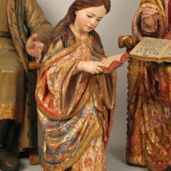 `Libera una escultura´ rescata a una pequeña Virgen Niña leyendo del siglo XVIII