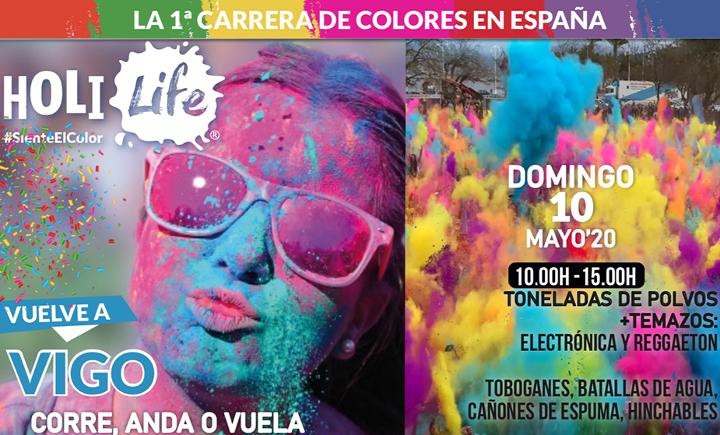 """HOLI LIFE «Summer Party"""" 2020, carrera de colores en Vigo. Cancelada"""