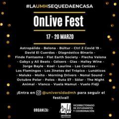 Cantautores, bandas y DJ's ofrecen conciertos por streaming en el 'OnLive Fest' de la UMH