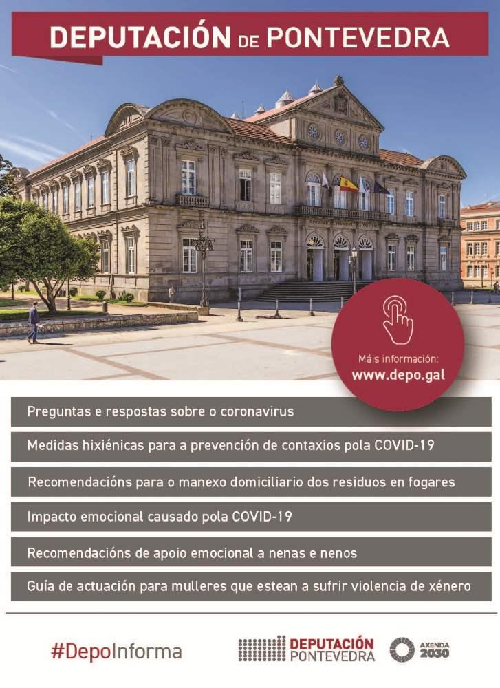 Diputación de Pontevedra. Medidas urgentes ante la crisis sanitaria