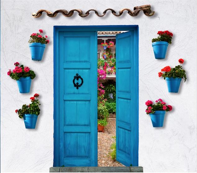 Patios de Córdoba. Puerta de entrada a un patio