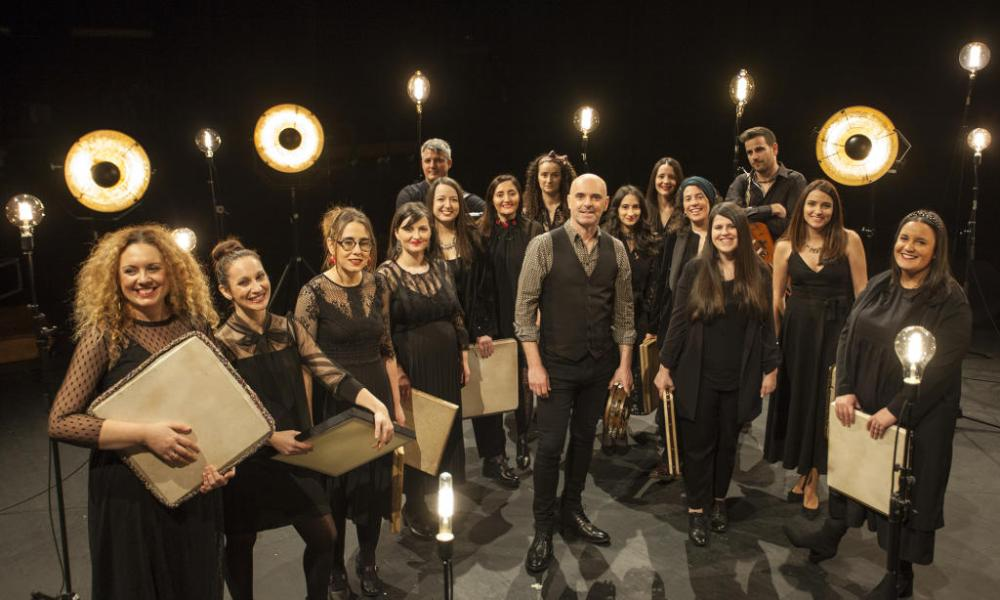 Xabier Diaz & Adufeiras de Salitre concierto en Vigo