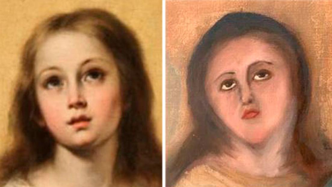 Sale muy mal la restauración de una Inmaculada de Murillo