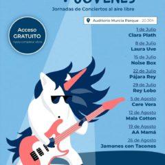 'Los miércoles más jóvenes' conciertos gratuitos en Murcia en verano