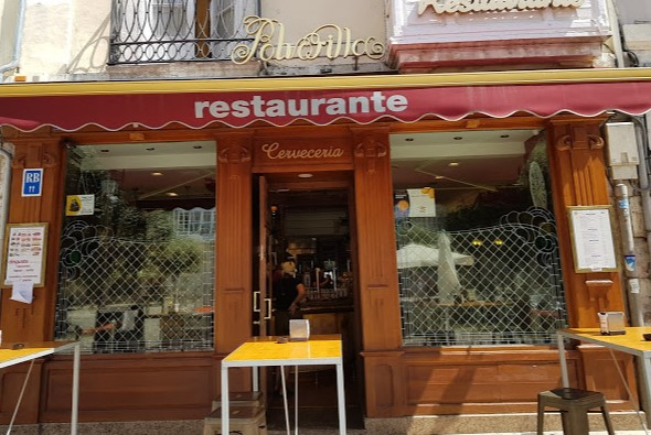 Puerta del restaurante Polvorilla