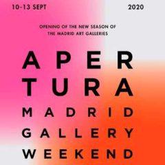 Apertura. Madrid Gallery Weekend 2020 en Arte_Madrid