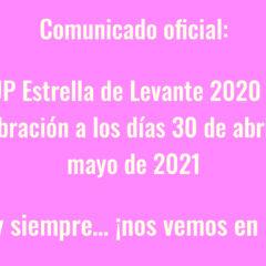 WARM UP Estrella de Levante 2020 pospone su celebración a los días 30 de abril y 1 de mayo de 2021