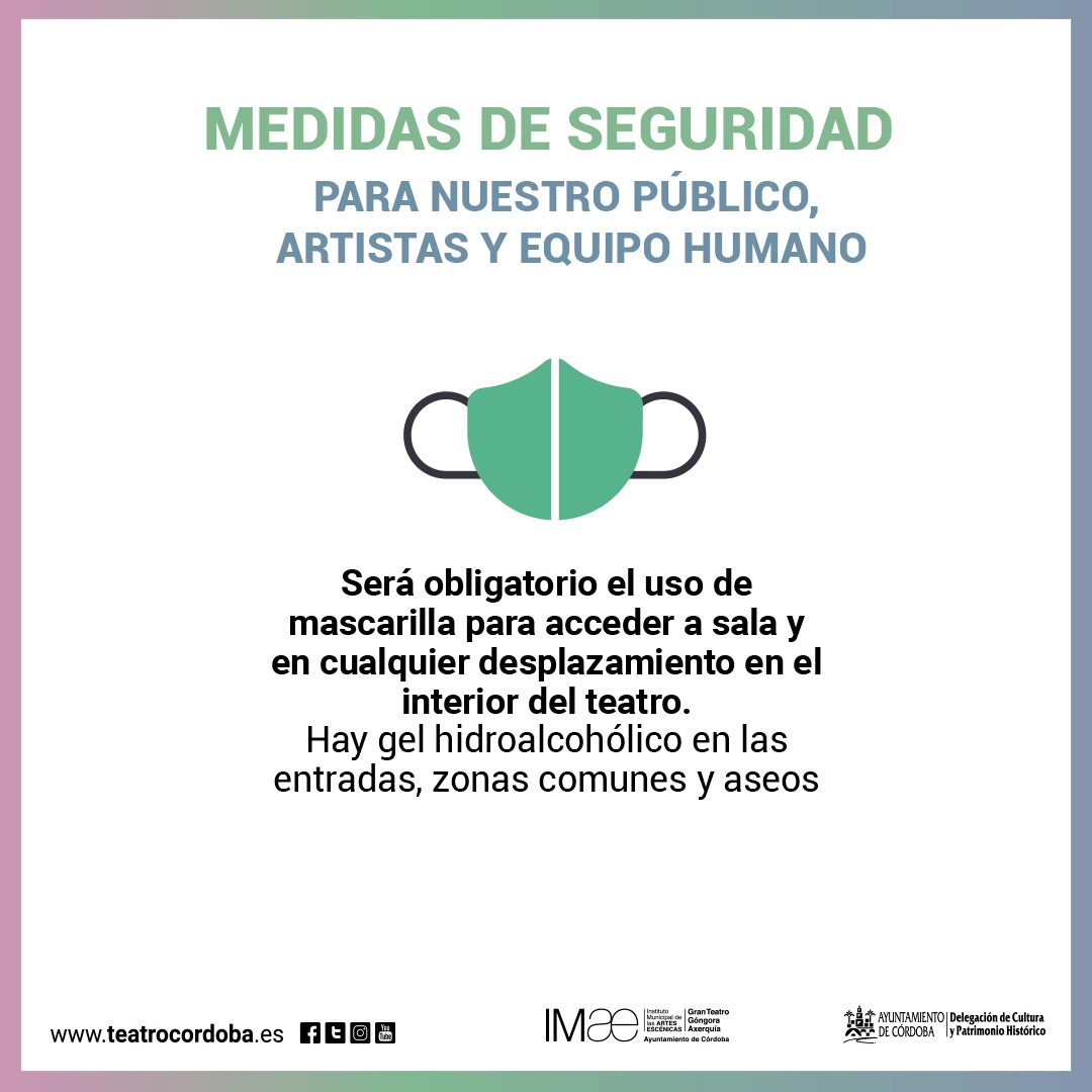 Medidas de Seguridad Covid-19 para disfrutar con seguridad de la cultura en Córdoba