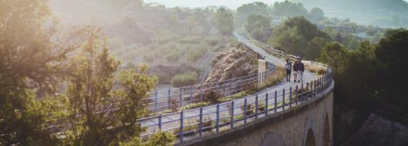 La Vía Verde del Noroeste, una preciosa ruta en la Región de Murcia