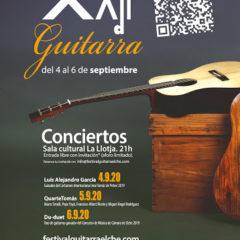 XXII edición del Festival de Guitarra «Ciutat d'Elx» del 4 al 6 de septiembre