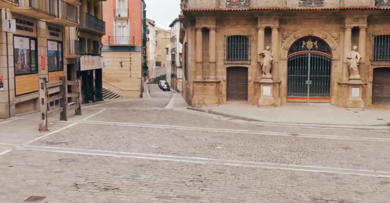 El Ayuntamiento de Pamplona publica un vídeo de los Sanfermines vacíos