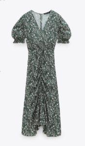Vestido midi estampado floral zara 39,95 eur