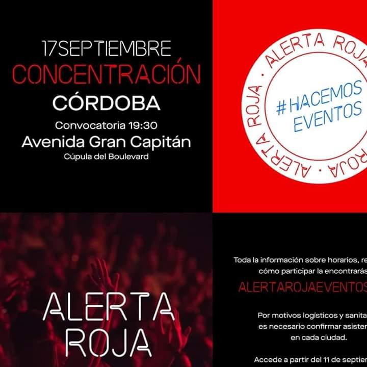 """""""Alerta Roja""""convocatoria de los trabajadores  de las artes escénicas y eventos"""