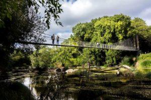 Puente Colgante en la Ínsua de Seivane Lugo