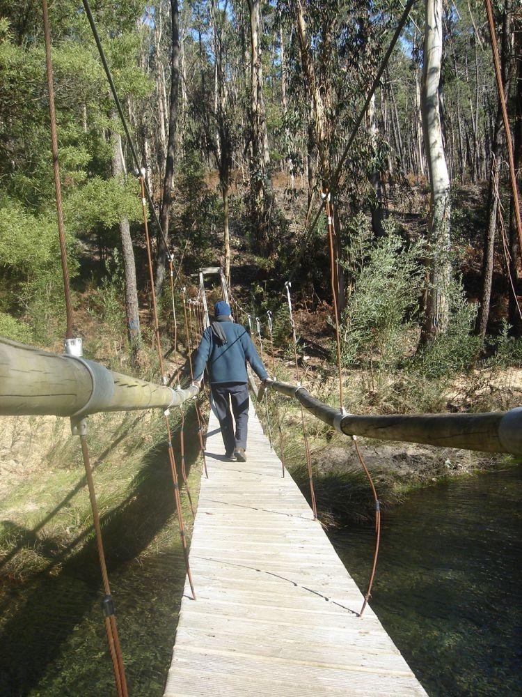 Puente colgante Acevedo de Oia Puentes colgantes Galicia