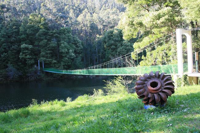Puente colgante rio Tambre Puentes colgantes Galicia