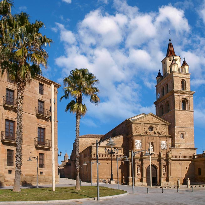 Iglesia Calahorra cielo y nubes