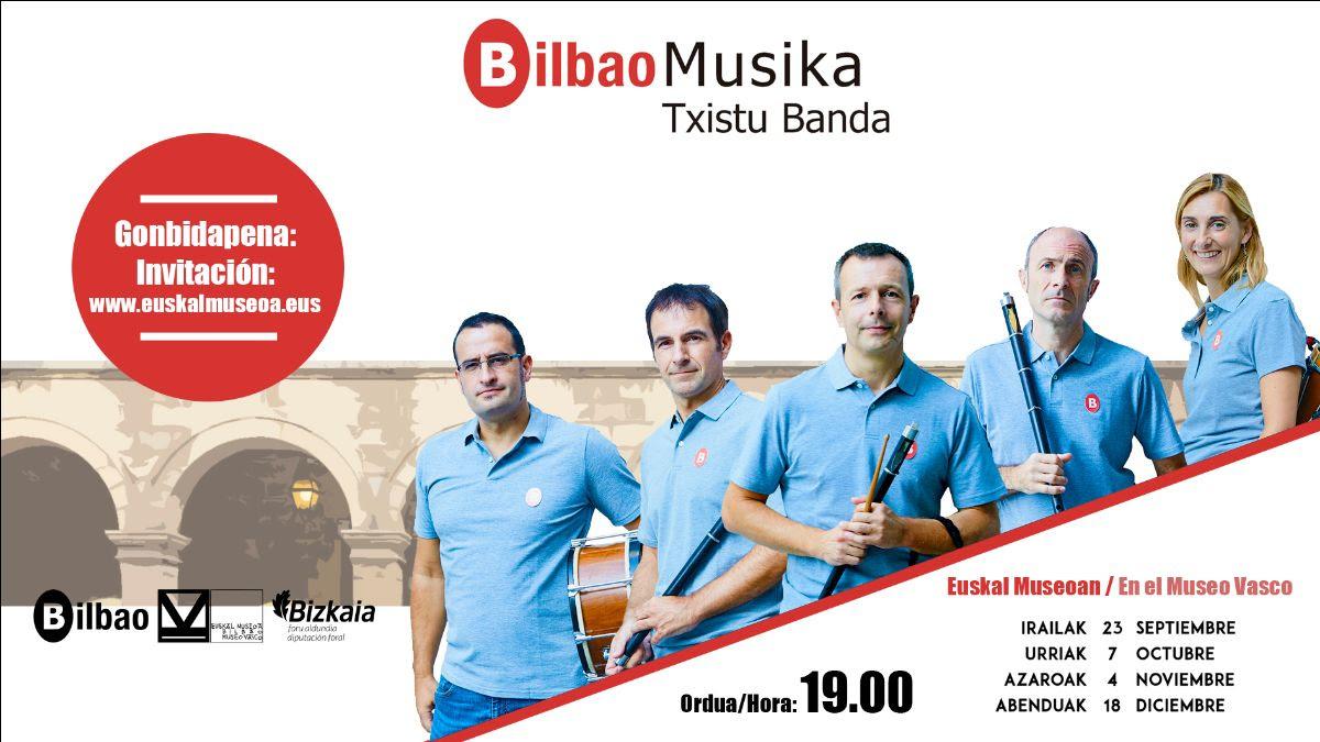 Grandes novedades en la nueva temporada de la Banda Municipal de Txistularis de Bilbao