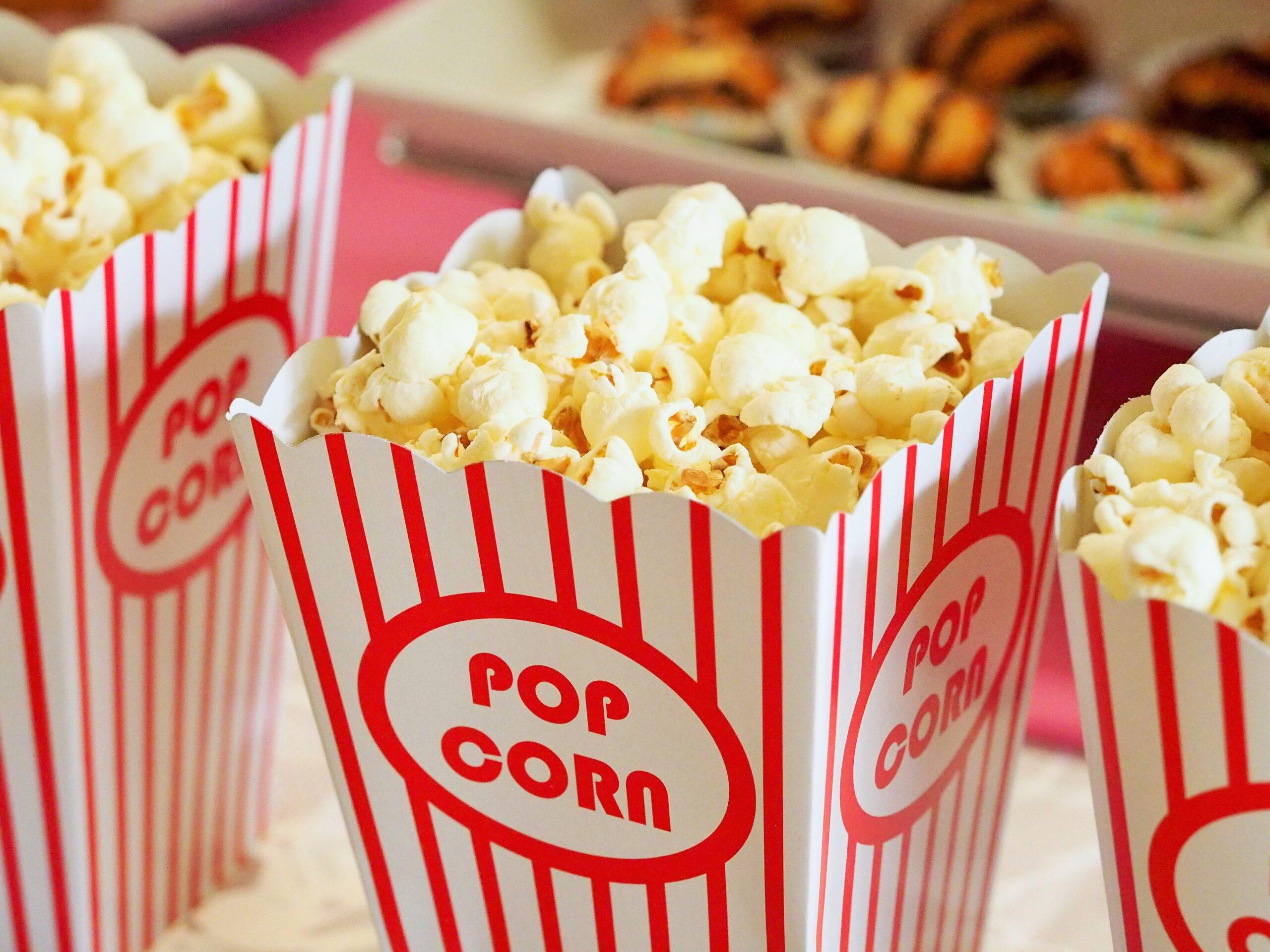 Palomitas para ver estrenos en el cine